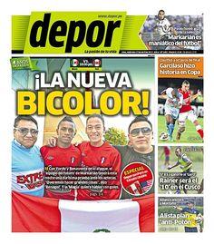 Portada del 17 de Abril: ¡La nueva bicolor! #SeleccionPeruana #Depor ES EL FUTURO DE LA SELECCION