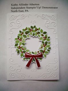 wondrous wreath by Kathy L Atherton Stampin' Up!