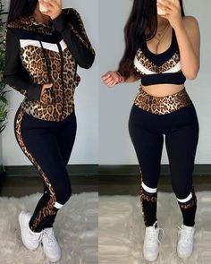 Look Con Short, Sports Crop Tops, Tracksuit Set, Slim Pants, Women's Pants, Long Pants, Bell Bottom Pants, Striped Crop Top, Sports Jacket
