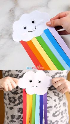 Cute paper rainbow kids crafts-Niedliches Papierregenbogen-Kinderhandwerk Cute paper rainbow kids craft - Diy and crafts interests Spring Crafts For Kids, Paper Crafts For Kids, Easy Crafts For Kids, Craft Activities For Kids, Preschool Crafts, Easter Crafts, Art For Kids, Craft Kids, Summer Crafts