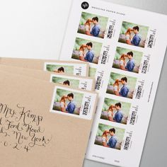 Add a unique touch to your save the dates to thank you cards with personalized postage of your engagement photos, your furry friends, or anything you wish. The possibilities are endless and the reaction, priceless.
