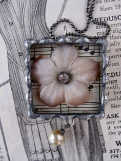 Sweet Vintage Flower Necklace by rochellemybelle