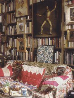 Umberto Pasti's Milan apartment. World of Interiors March 2013