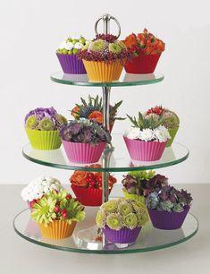 Flower Arrangement Cupcakes