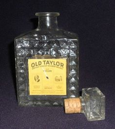 antique whiskey bottles | Vintage Old Taylor Kentucky Whiskey Bottle used, new for sale ...