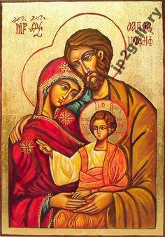 Święta Rodzina Ikona ręcznie malow, ślub, chrzest, icon
