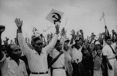 DN Aidit (DN = Dipa Nusantara) sedang berkampanye untuk PKI (Partai Komunis Indonesia).