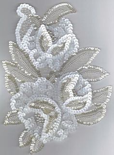 Crafts - Craft Supplie for Mask Decorations Pearl Embroidery, Tambour Embroidery, Couture Embroidery, Embroidery Motifs, Embroidery Fashion, Hand Embroidery Designs, Tambour Beading, Bordados Tambour, Art Perle