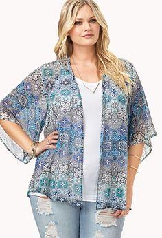 #F21CRUSH @Forever 21 Ornate Kimono   FOREVER21 PLUS - 2000107660