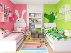Twin girl bedrooms for toddler 28 www Oanuc com is part of Kids rooms shared - Twin Girl Bedrooms, Boy Girl Bedroom, Baby Bedroom, Twin Room, Room Baby, Sisters Shared Bedrooms, Bedroom For Twins, Bedroom Decor For Kids, Sibling Bedroom