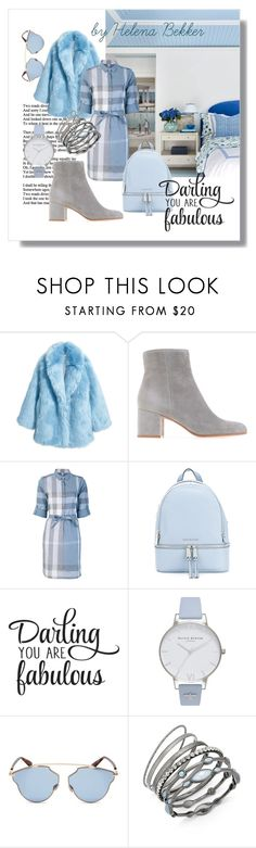 """#275"" by helena-bekker ❤ liked on Polyvore featuring Jakke, Burberry, MICHAEL Michael Kors, WALL, Olivia Burton, Christian Dior and INC International Concepts"