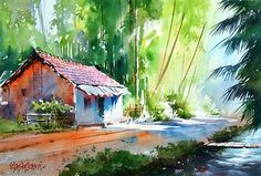 watercolor painting by vilas kulkarni. Read Full article: http://webneel.com/webneel/blog/15-mind-blowing-disney-paintings-thomas-kinkade-painter-light | more http://webneel.com/paintings . Follow us www.pinterest.com/webneel