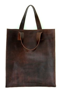 Minimal brown leather bag.  ♥Click and Like our Fb page♥