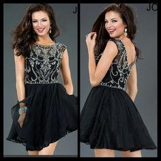 Short black homecoming dress