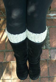 Leg Warmers Boot Cuffs Crocheted Boot Socks by BlueBayCrochet
