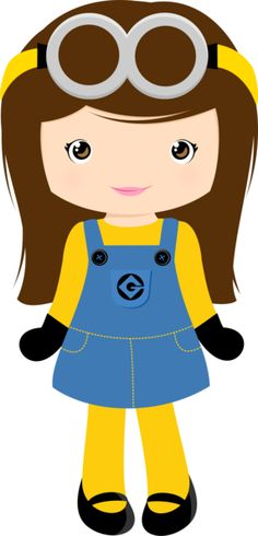 Menina Minion Castanho | #daJuuh