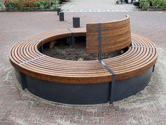 Ronde bank model Oka | Round bench model Oka