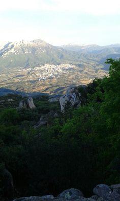 Veduta dal Monte Ortobene Nuoro . (Sardegna) Oliena