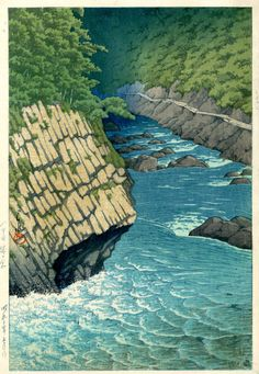 Jogakura Gorge, Hakkoda | From a unique collection of landscape prints at https://www.1stdibs.com/art/prints-works-on-paper/landscape-prints-works-on-paper/