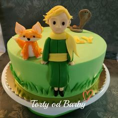 Little Prince cake with fox and snake, torta malý princ s liskou a hadom
