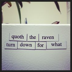 Magnetic poetry stirs the soul.