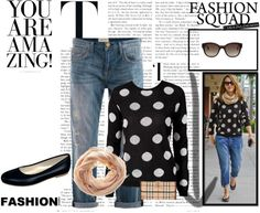 Designer Clothes, Shoes & Bags for Women Celebrity Style, Polka Dots, Chocolate, Black And White, Celebrities, My Style, Board, Polyvore, Fashion Trends