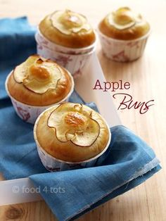 Apple Buns, Tangzhong, Water Roux, Bread Starter, Bun, Bread, Toddler, Kid, Children, Food 4 Tots, Recipe For Toddlers