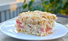 Canadian Back-to-School Rhubarb Cake