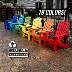 Items similar to EcoAdirondack Chair // Poly Lumber Adirondack Chair // Made from Durable Recycled Plastic Poly Lumber poly wood // MADE IN USA on Etsy Anarondak Chairs, Beach Chairs, Outdoor Chairs, Outdoor Decor, Backyard Chairs, Beach Patio, Outside Living, Outdoor Living, Garden Furniture