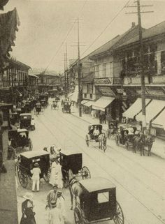 THE ESCOLTA, THE PRINCIPAL BUSINESS STREET OF MANILA [1912] Philippines Fashion, Philippines Culture, Manila Philippines, Old Pictures, Old Photos, Philippine Architecture, Philippine Holidays, Philippine Art, Filipiniana