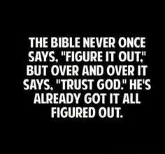 Don't Worry. Trust God.
