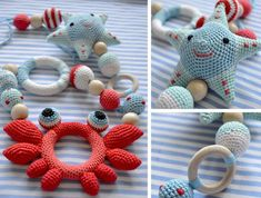 Cotton teething toy teething necklace boy teething toy organic baby rattle stuffed rattle to crochet stitch symbols collection Diy Educational Toys, Diy Bebe, Teething Toys, Teething Babies, Baby Education, Organic Baby Clothes, Baby Rattle, Free Baby Stuff, Kids Nutrition