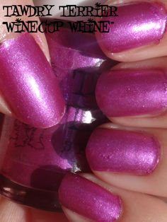 """@TawdryTerrier """"Winecup Whine"""" in the sun - only 1 bottle available at https://www.etsy.com/shop/TawdryTerrier #nailpolish #indienailpolish #winecup #tawdryterrier"""