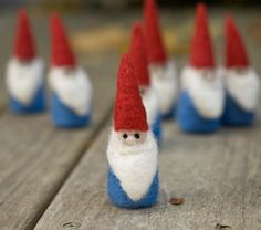 Needle Felted Gnome by scratchcraft on Etsy, $14.00