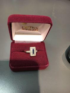 Ladies sapphire And Diamond Dinner Ring
