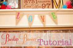 Burlap Banner Tutorial: No-sew is is THE WAY TO GO!