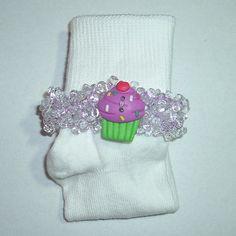 Debi's Beaded Bobby Socks  Sweet Treats Style 1  by DebiCreations..