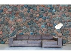 """""""Old Field Stone Wall"""". A wallpaper mural from Muralunique.com. Photography by Donn Petelka."""