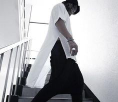 Hip hop Men t shirt tyga cool extended t shirt Low High Short Sleeve tee top hba…