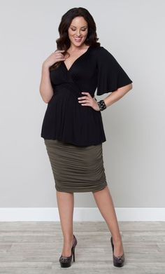 29f4f5832f8fe Lily Top Stylish Plus Size Clothing