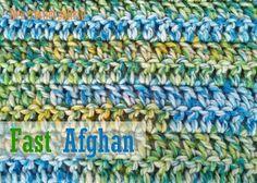 Fast, Easy and Pretty Afghan | AllFreeCrochetAfghanPatterns.com