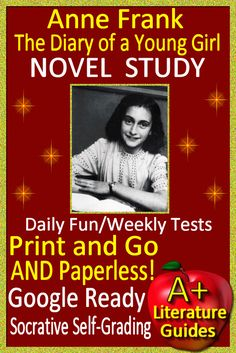 Digital Resource - Free up your time with Anne Frank: The Diary of a Young Girl, a 175 page common-core aligned Complete Literature Guide for the book, NOT the play. It can be used with or without Google Drive (Paperless OR Print and Go)This guide can be used as a Print and Go, but also utilizes Google Docs for the Chapter Questions, Google Slides with Movable Parts for Story Elements and Grammar, and Self-Grading Assessments through Socrative for the Vocabulary Quiz, all Chapter Quizzes...