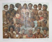 """oceanic peoples german 1894 lithograph 9 x 12"""" $30"""