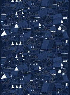 Marimekko Kujilla Fabric Blue/Blue | Kiitos Marimekko