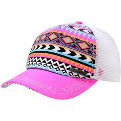 Pink Trucker Hat | Empyre Girls Tribal Pink Trucker Snap Back Hat on Wanelo