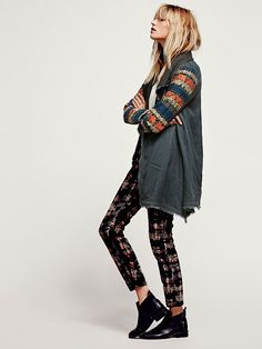 Free People Embroidered Sleeve Tencel Coat at Free People Clothing Boutique