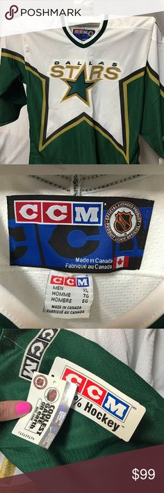 NWT XLG NHL Dallas Stars Hockey Jersey NWT XLG NHL Dallas Stars Hockey Jersey NHL Official Licensed Product NHL OFFICIAL LICENSED PRODUCT Jackets & Coats Bomber & Varsity