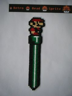 Mario bookmark hama mini beads (13 cm) by  retro-bead-sprite