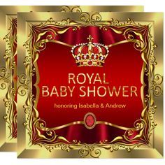 baby shower red gold card princess baby showers shower favors shower