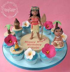 Moana Cupcakes by The Clever Little Cupcake Company